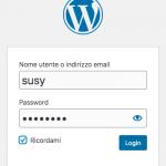 Schermata Wordpress Login